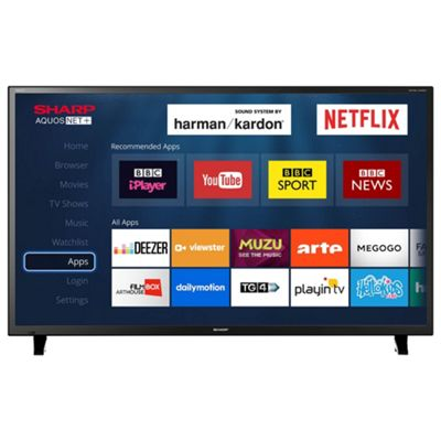 sharp 50 inch lc50cfg6001 smart full hd led tv with freeview hd u0026 built - 50in Tv