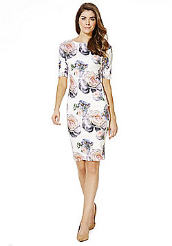 AX Paris Floral Bodycon Dress - White