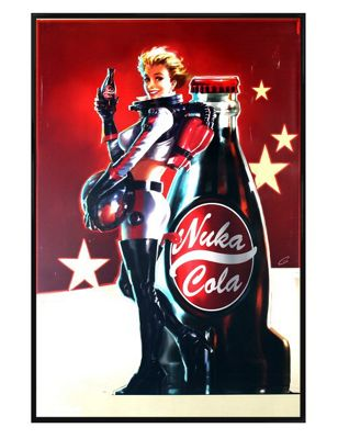 Fallout 4 Gloss Black Framed Nuka Cola Poster