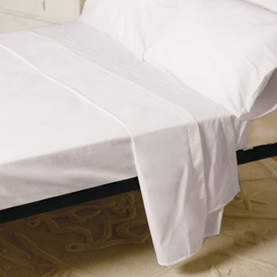 Belledorm Egyptian Cotton 1000 Thread Count Flat Sheet - White - Single