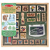 Wooden Stamp Sets - Stamp-a-Scene Rainforest - Melissa & Doug