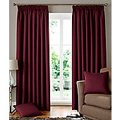 Solitaire Ready Made Lined Curtains Red 90x54