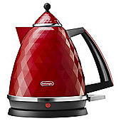 DeLonghi KBJ3001.R Brillante Kettle, 1.7 L - Red