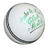 "Dukes Cricket Club Match ""A"" Mens 156g (5.5oz) Cricket Ball White"