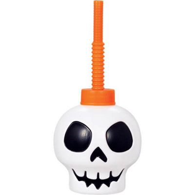 Skull Cup With Straw - 9cm