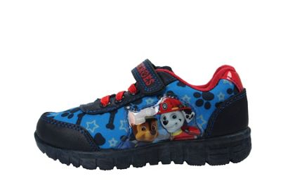 Boys Infant Paw Patrol Blue Canvas Trainers Sport Shoe Hook & Loop UK Size 5