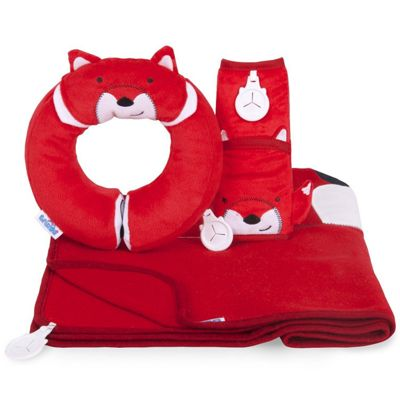 Trunki Kids Snuggleset Felix Fox Travel Set (Yondi Pillow / SnooziHedz Blanket / Seatbelt Pad)