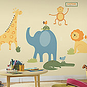 Nursery Large Wall Stickers - Zoo Animals