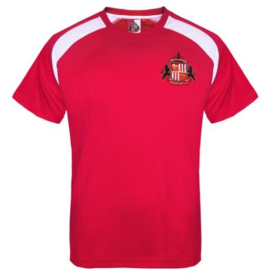 Sunderland AFC Boys Poly T-Shirt Red 6-7 Years SB