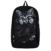 Spiral Bright Eyes With Laptop Pocket Black Backpack 33x46x19cm