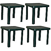 Resol Sun Lounger Side Table In Green / Garden Table Polypropylene Plastic x4
