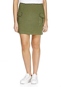 F&F Twill Cargo Skirt - Khaki