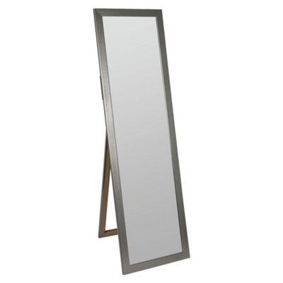 Basic Cheval Mirror- Metallic Silver