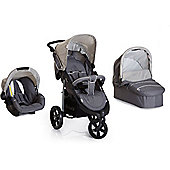 Hauck Viper SLX Trio Set with Mosquito Net Travel System - Smoke/Grey