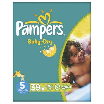 Pampers Baby Dry Size 5 Essential Pack -  39 nappies