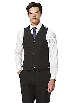 F&F Regular Fit Waistcoat - Black