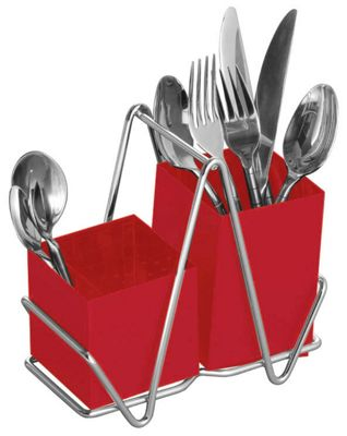Premier Housewares Cutlery Caddy, Red