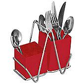 Premier Housewares Cutlery Caddy, Red