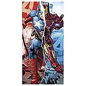 Avengers Captain America and Iron Man Towel