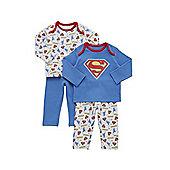 DC Comics 2 Pack of Superman Pyjamas - Multi