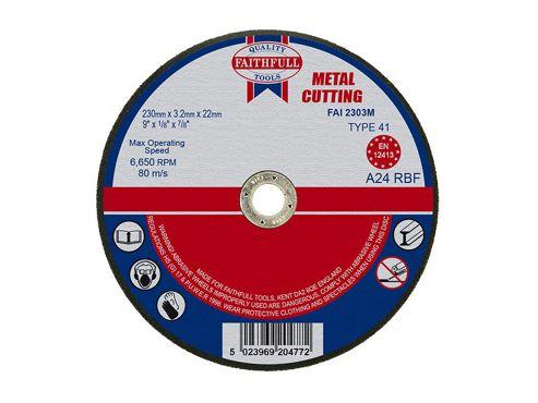 Faithfull Cut Off Disc for Metal 230 x 3.2 x 22mm
