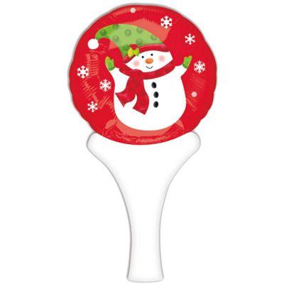 Christmas Snowman Round Balloon - 12 inch Foil