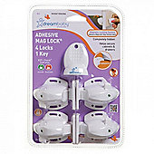Dreambaby Adhesive Mag Lock - 4 Locks & 1 Key