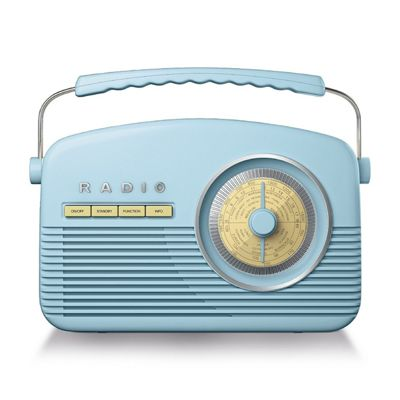 Akai DAB Portable Retro Alarm Clock Radio
