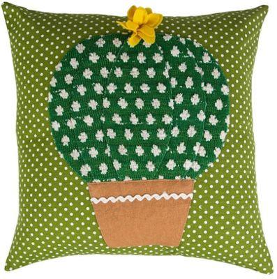 Yellow Flower, Cactus Cushion