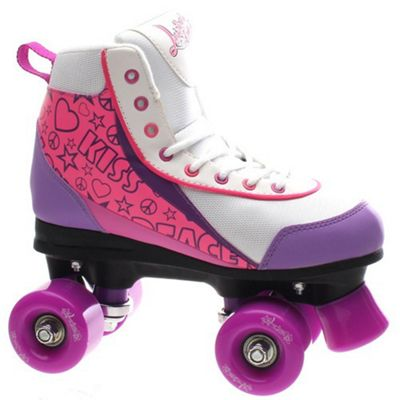 Luscious Retro Quad Roller Skates - Purple Punch - UK 3