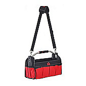 Homcom Open Tool Bag Storage Organiser Electrician Carry Case w/ Shoulder Strap