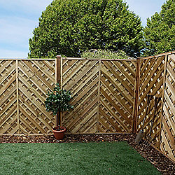 Mercia Chevron Weave Fence Panel 6ft Pressure Treated