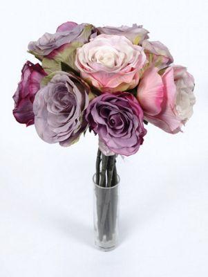 Artificial - Rose Bundle Short Stem - Lilac