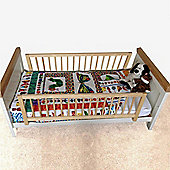 Safetots Double Sided Wooden Bedguard Natural