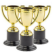 Kid's Party Bag Gold Trophies (Pack of 6)