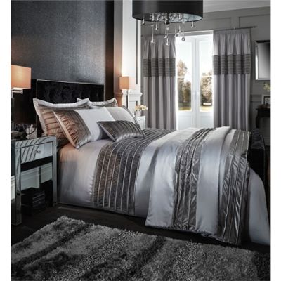 Corded velvet band duvet cover set - single