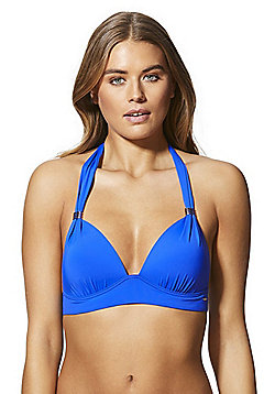 F&F Shaping Swimwear Halter Neck Bikini Top - Cobalt blue