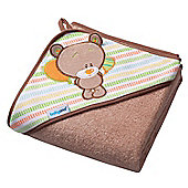 Large Hooded Baby Towel - Teddy Bear