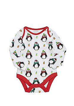 F&F Penguin Bodysuit - White & Multi