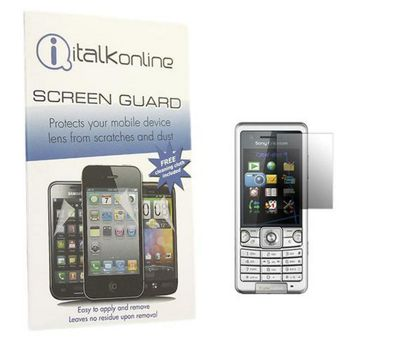 S-Protect LCD Screen Protector & Micro Fibre Cleaning Cloth - Sony Ericsson C510