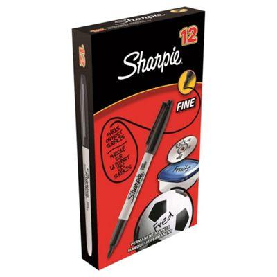 Sharpie Fine Point Marker - Black 12 Pack