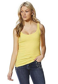F&F Scallop Trim Vest Top - Yellow