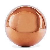 Polished Copper Stainless Steel 18cm Garden Sphere Gazing Ball Ornament
