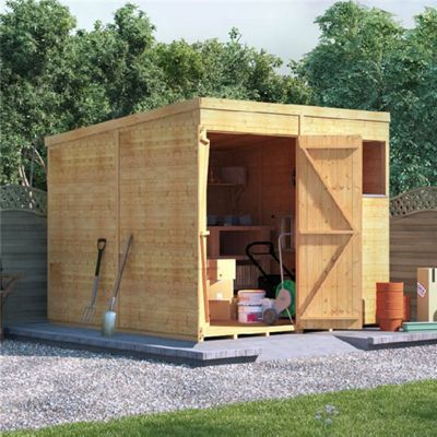 BillyOh Expert Tongue and Groove Windowed Pent Workshop 8x8
