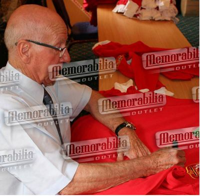 Signed Wayne Rooney & Sir Bobby Charlton Man Utd Twin Shirt Display
