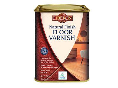 Liberon Natural Finish Floor Varnish Clear Satin 1 Litre