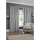 Falcao Lined Eyelet Curtains - Charcoal