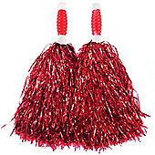 Smiffy's - Red Standard Tinsel Pom Pom's