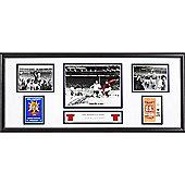 Framed Geoff Hurst signed England Storyboard