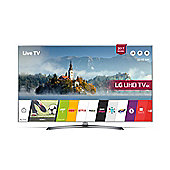 LG UJ750V  Inch 4K Ultra HD HDR Smart TV with Freeview Play - Silver